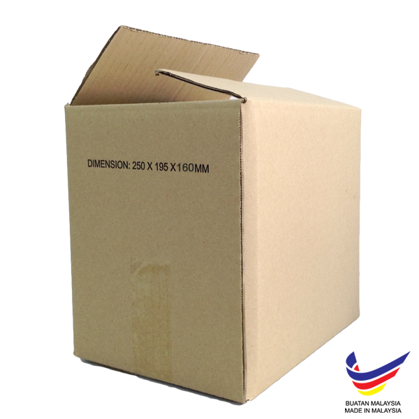 (250mm x 195mm x 160mm, Set of 20) Small Single Wall Carton Box