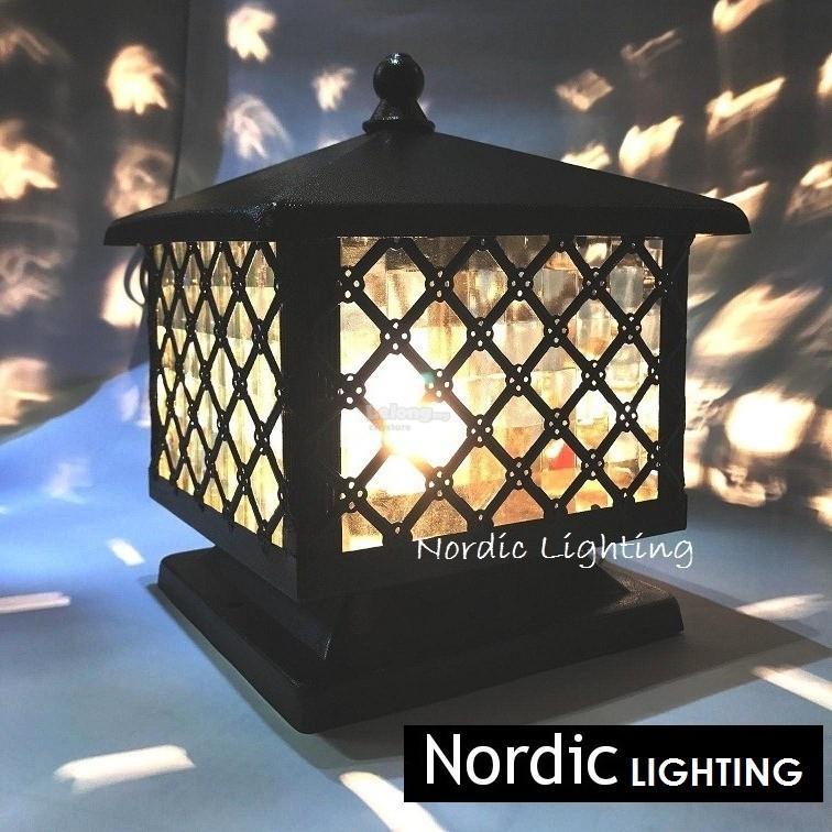Superior 25cm Outdoor Pillar Light Gate Lamp (DL G913 250) Ready Stock
