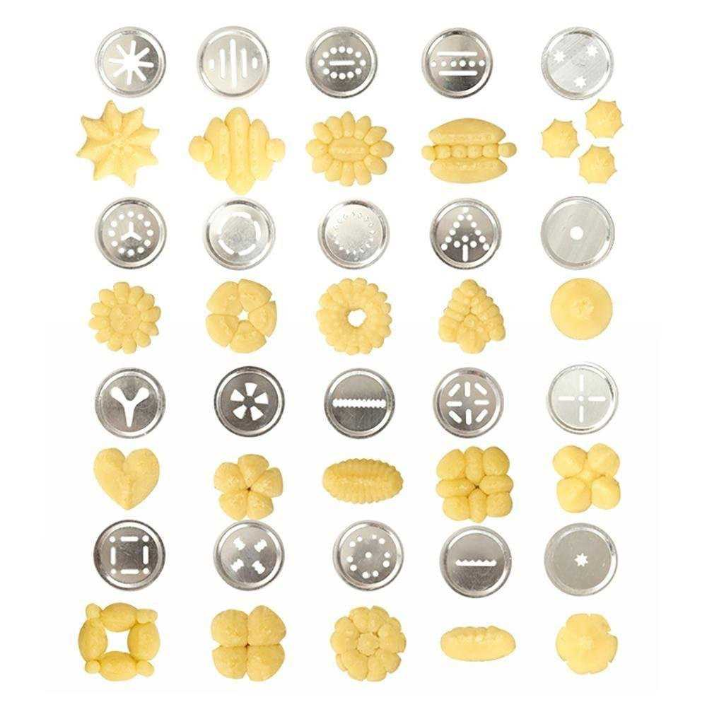 25Pcs Aluminium Alloy Press Machine Biscuit Making Pump Multi Pattern Cookie B