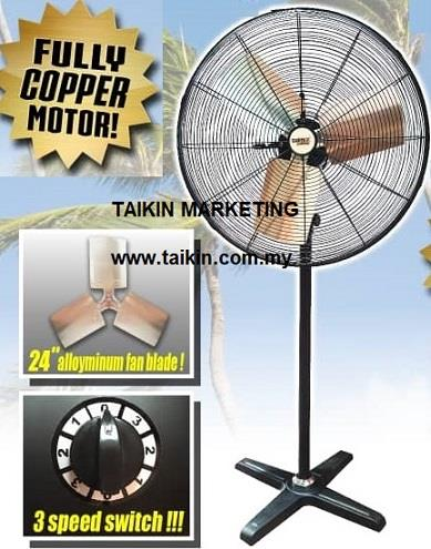 26'' Industrial Turbo Stand Fan 24'' Aluminium Blades 3 Speed 230W