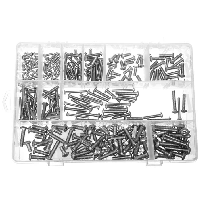 270Pcs Hex Socket Screws 304 Stainless Steel Button Head Bolt M3 M4 M5