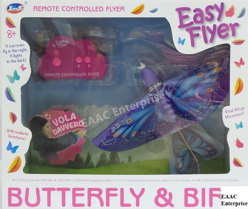 2CH 24G RC Flyer Colourful Butterfly Bird Real Wing Movement
