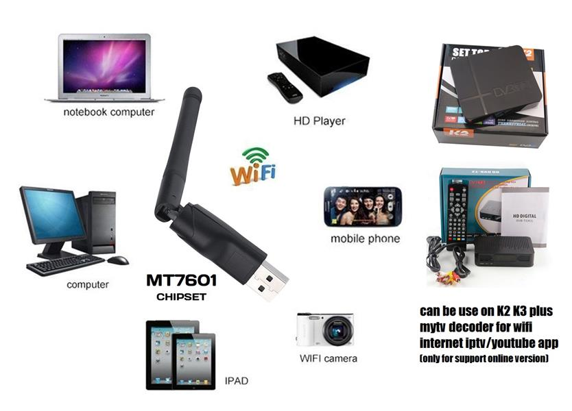 2dBi/5dBi USB WIFI DONGLE ADAPTER f5 f3 z5 v8 alphabox freesat tvbox