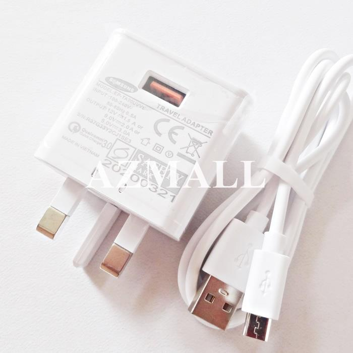 2in1 15W Charger Micro USB Cable Samsung Note 4 5 S6 S7 Edge A9 Pro
