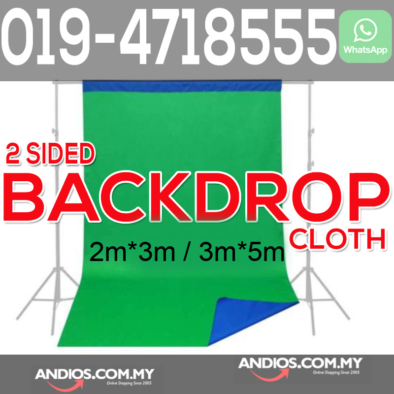 2in1 Blue Green Double Side Backdrop Cloth Photo Studio Curtain Kain