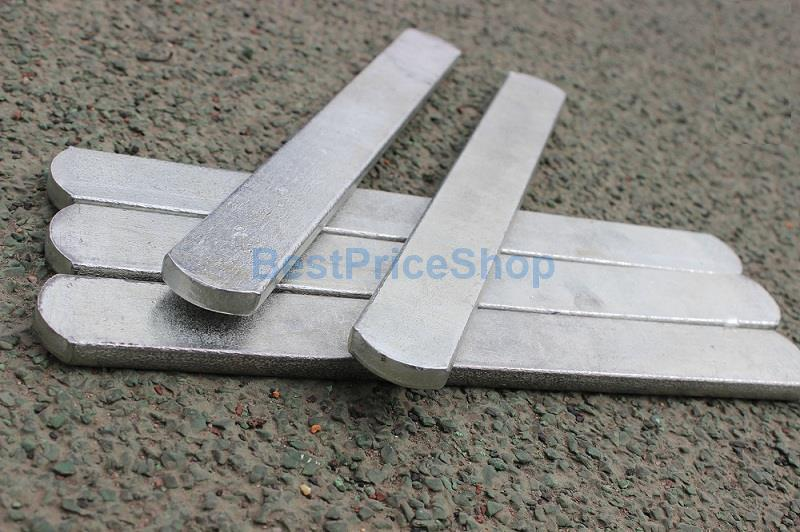 2kg Iron Bar for Adjustable Weight Vest Jacket Steel Plate Bars
