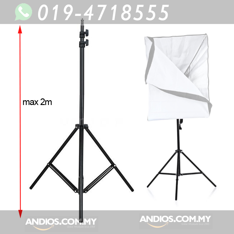 2m Photography Studio Tripod Stand Holder for Soft Box Lighting Light