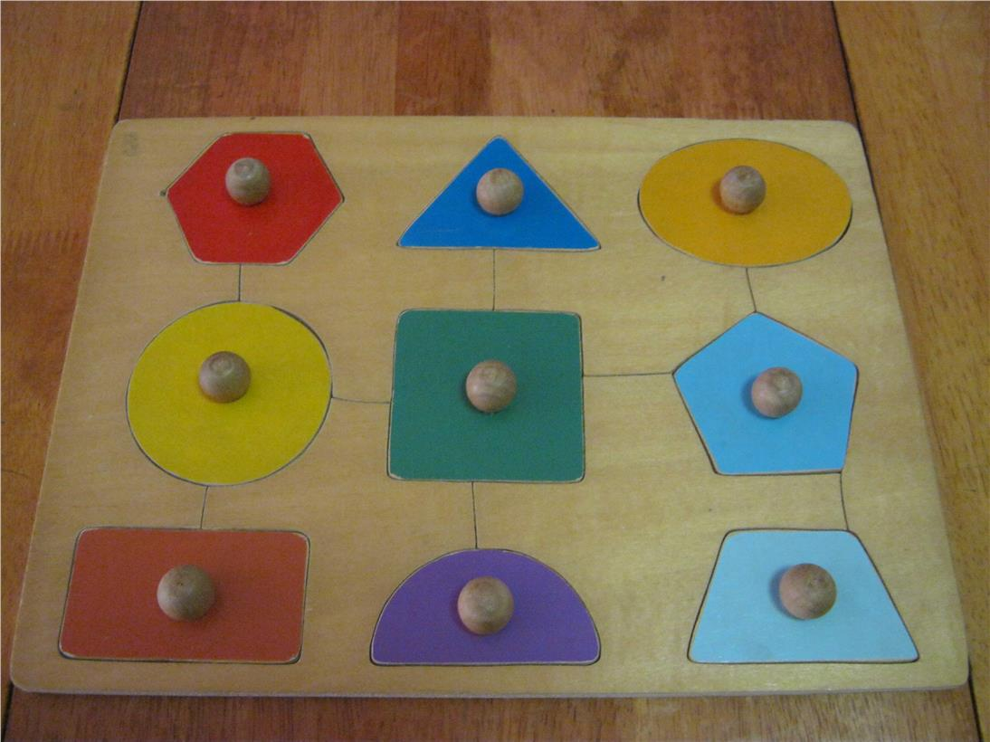 2nd hand Wooden Educational Knob Puzzle – Shapes