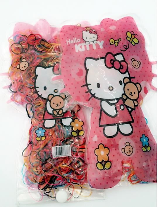 2Pack  Multicolored Elastic Hair Rubber Bands/Ties-Hello Kitty Charact