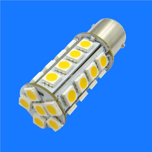 2pc 1156 BA15S 30-5050 LED Warm White 3500K Bulb