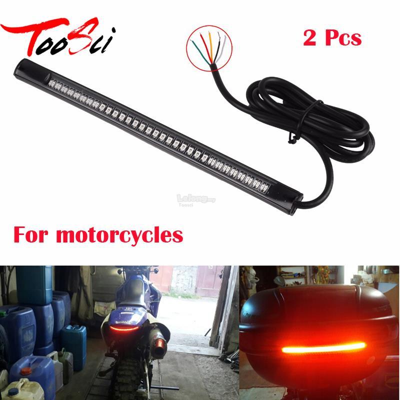 2pc flexible led motorcycle brake li end 5152019 915 am 2pc flexible led motorcycle brake lights turn signal light strip 48led aloadofball Choice Image
