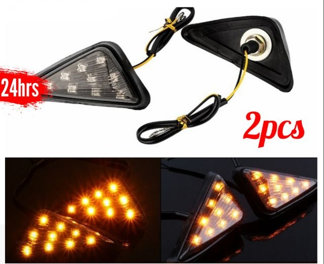 2pcs 12V Motorcycle Flush Mount Turn Signal LED Side Light AP