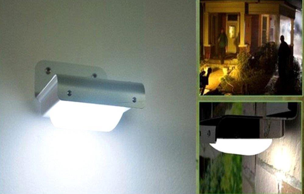 2PCS 16LEDs 5.5V 0.55W Outdoor Solar Motion Light Infrared Sensor Wall Lamp New