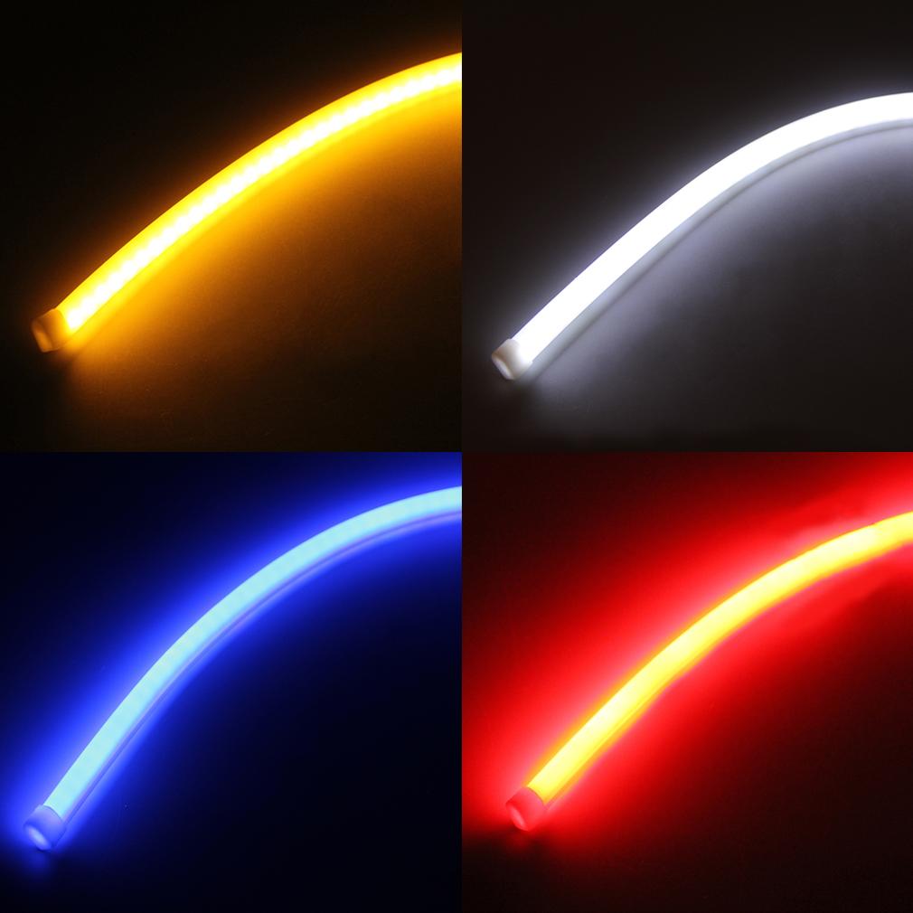 2pcs 60cm flexible soft tube car le end 11222018 310 pm 2pcs 60cm flexible soft tube car led strip turn signal running lights aloadofball Images