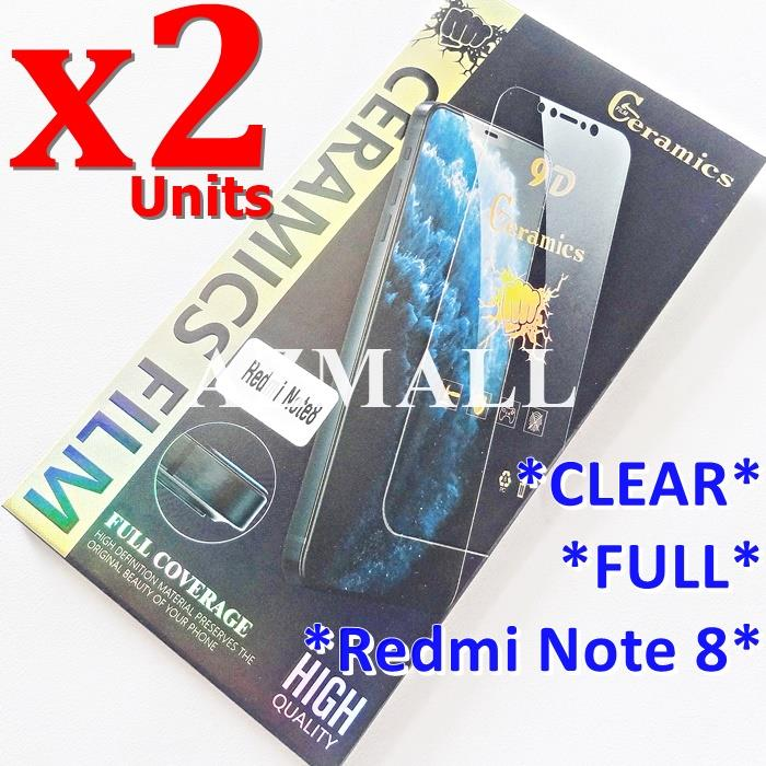 2PCS 9D Anti Drop Ceramic Film Screen Protector Xiaomi Redmi Note 8