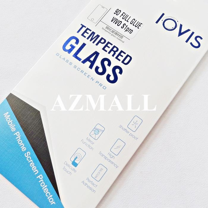 2PCS 9D Full Glue Tempered Glass Screen Protector vivo S1 /S1 Pro