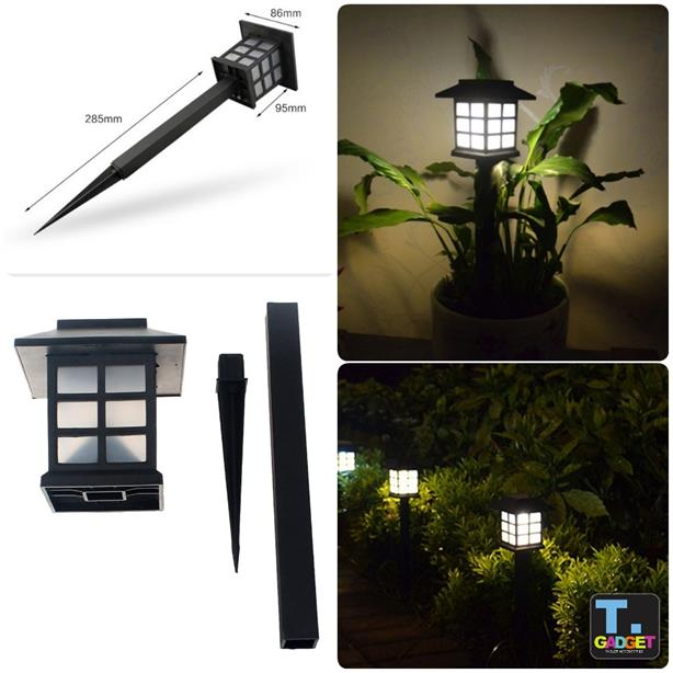 2pcs Garden Solar Light Waterproof Led Lamp For Outdoor Lighting Fence