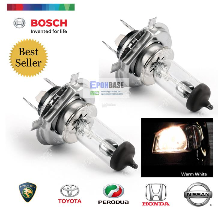 2PCS H4 BOSCH Original Halogen H4 12V 60/55W 4126055 Car Light Bulb