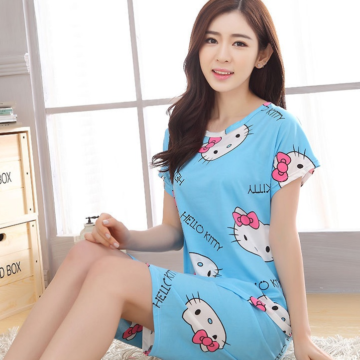 255a68086 2PCS HELLO KITTY SHORT SLEEVE BLUE P (end 8/3/2020 11:00 AM)