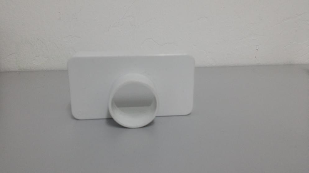 2pcs Hydroponic Rectangular End Cap 4x2 with HOLE