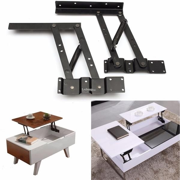 2Pcs Lift Up Top Coffee Table Lifting Frame Mechanism Spring Hinge Har. U2039 U203a
