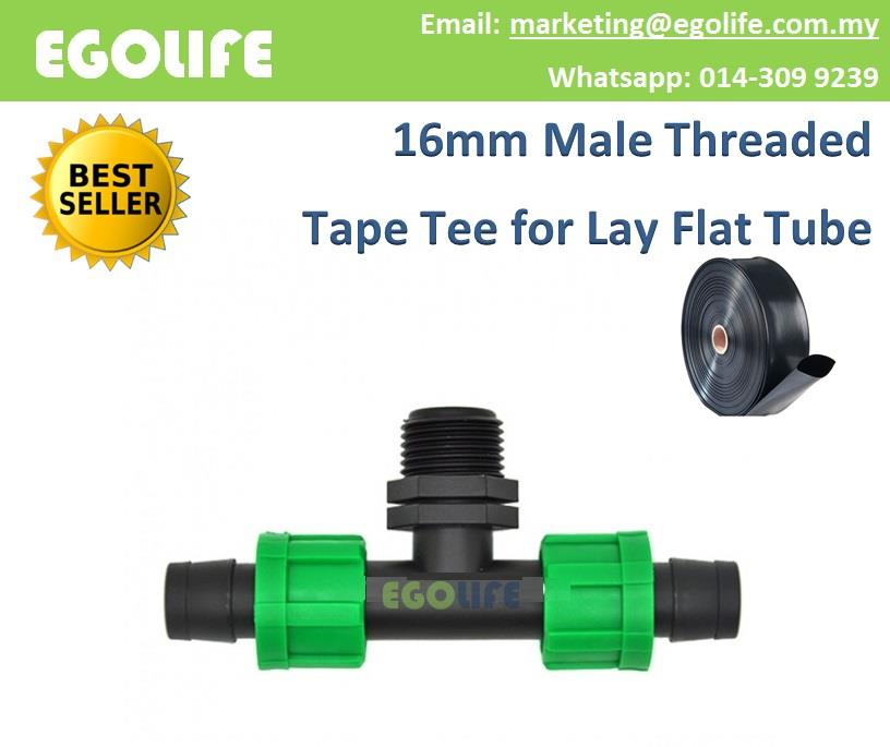 2pcs Male Threaded Tape Tee 16mm for (end 12/4/2019 4:15 PM)