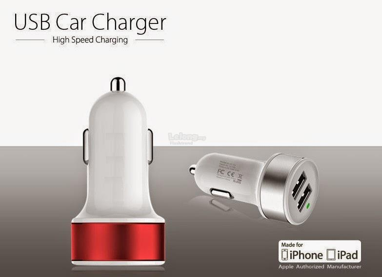 2pcs Metal Car Charger 2.1A 2 USB Output (Free shipping)