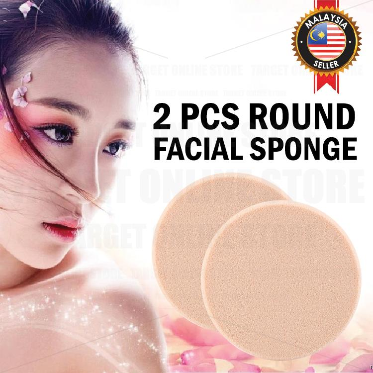 2pcs Make Up Round Soft Sponge Powder Puff Cosmetic Facial Beauty