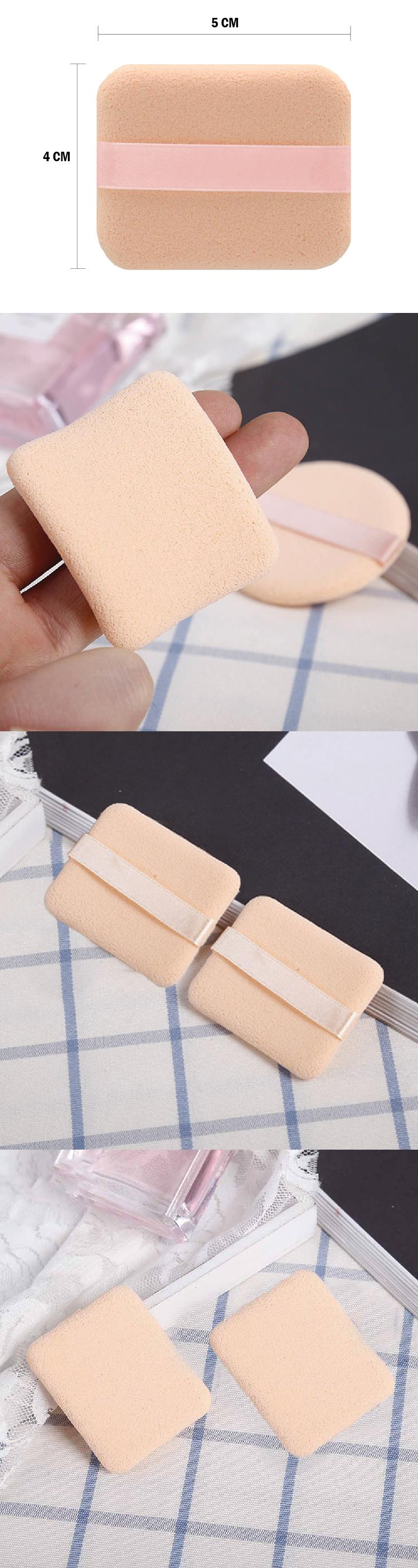 2pcs Make Up Square Soft Sponge Powder Puff Cosmetic Facial Beauty