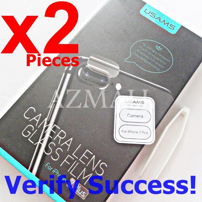 2PCS USAMS Rear Camera Lens Tempered Glass Apple iPhone 8+ 7+ Plus