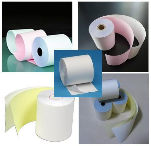2ply NCR Color or White Paper Rolls - 76mm x 65mm (ON SALE!)