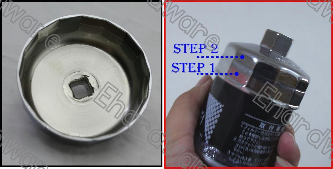 2Step Oil Filter Cap Wrench 87mm/86mm 16P Volvo / BMW (OFW8786P16)