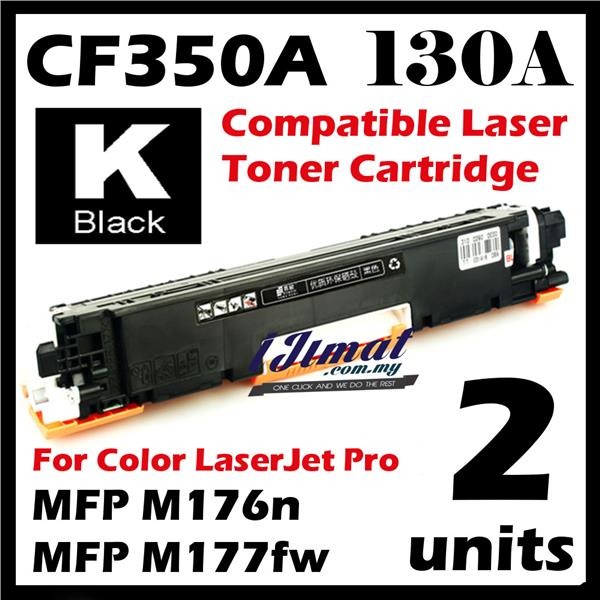 2unit CF350A 130A Black Color Compatible HP M176 M176n M177 M177FW MFP