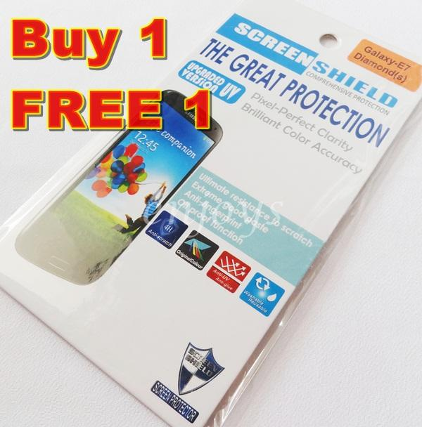 2x DIAMOND Clear 4H LCD Screen Protector Samsung Galaxy E7 /E700H