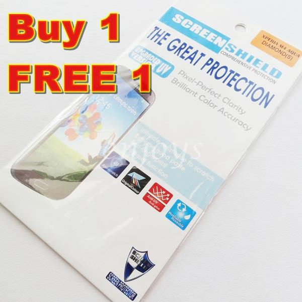 2x DIAMOND Clear 4H LCD Screen Protector Sony Xperia M4 Aqua Dual