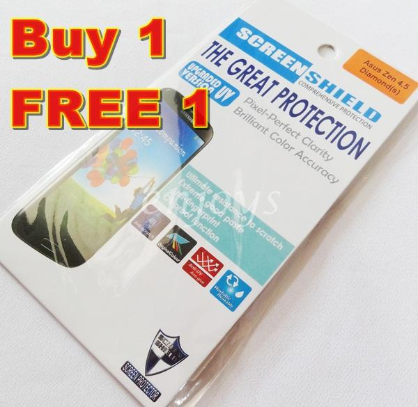 2x DIAMOND Clear LCD Screen Protector Asus Zenfone 4.5' / A450CG T00Q