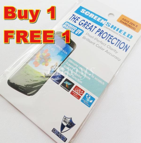 2x DIAMOND Clear LCD Screen Protector Asus Zenfone 5 / Zen5 A501CG