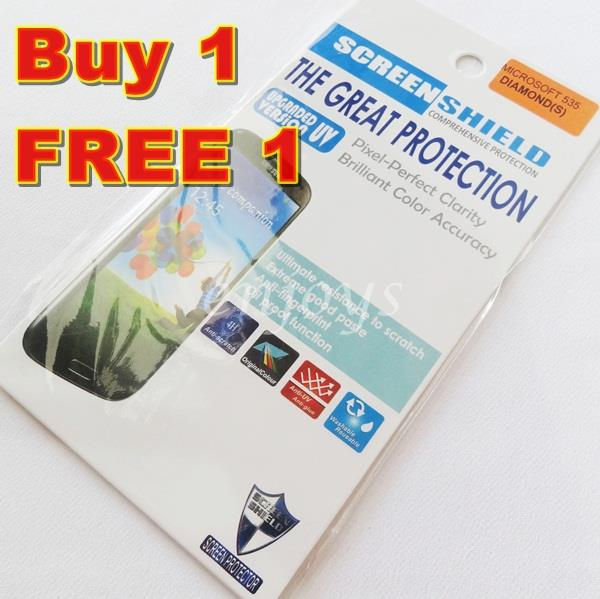 2x DIAMOND Clear LCD Screen Protector Microsoft Lumia 535 ~Nokia