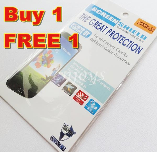 2x DIAMOND Clear LCD Screen Protector Sony Xperia C4 Dual / E5333