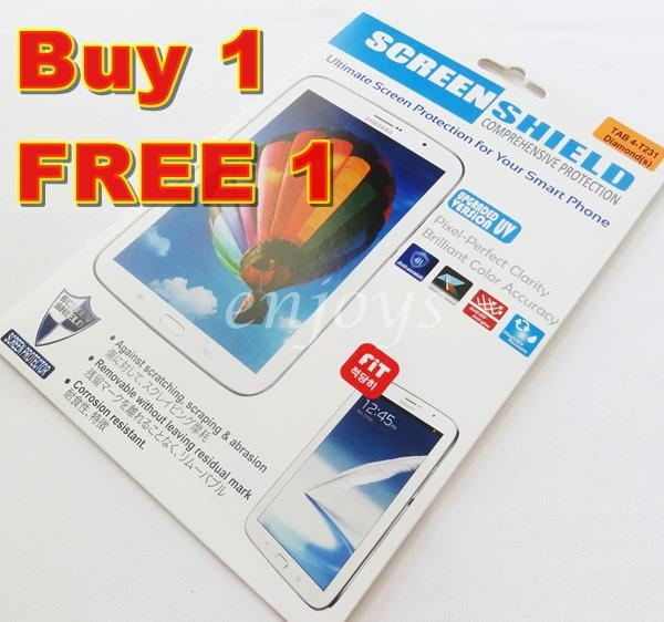 2x DIAMOND Clear Screen Protector Samsung Galaxy Tab 4 7.0 T231 T235