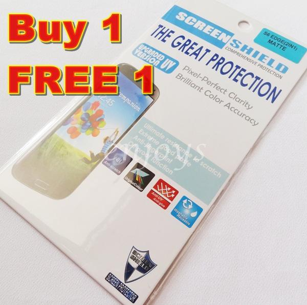 2x MATTE AG Screen Protector Samsung Galaxy S6 Edge /G925F ~Front Back