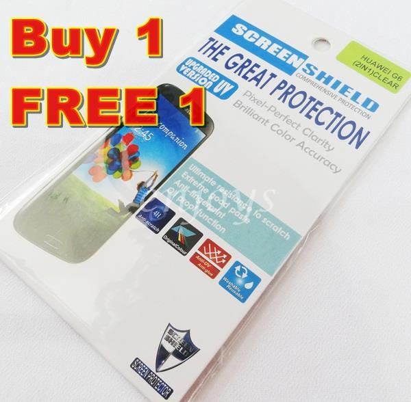 2x Ultra Clear LCD Screen Protector Huawei Ascend G6 ~Front Back