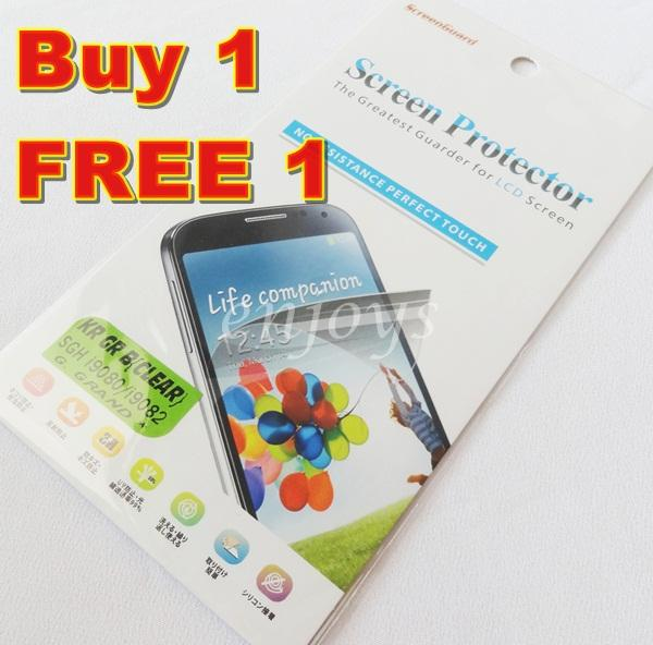 2x Ultra Clear LCD Screen Protector Samsung Galaxy Grand Duos i9082