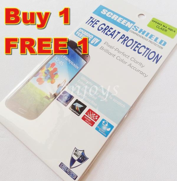 2x Ultra Clear LCD Screen Protector for Sony Xperia M4 Aqua Dual