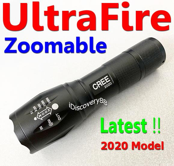 2x UltraFire Zoomable Cree XM-L T6 LED Zoom Torch FlashLight Set XML