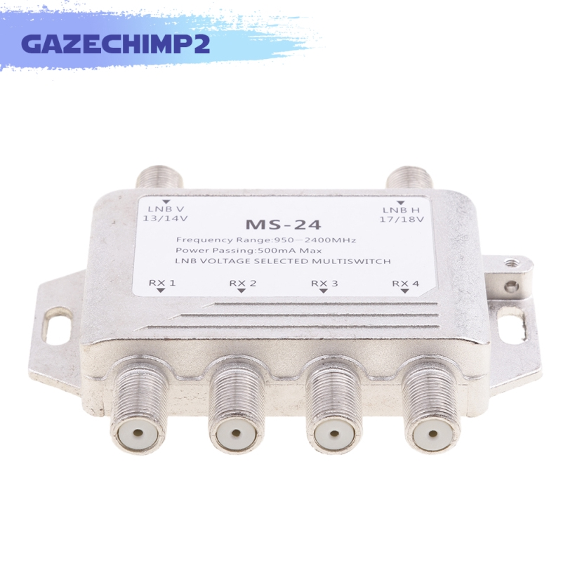 2x4 Way Lnb Voltage Selected Multiswitch Satellite Multi Switch 2 In 4