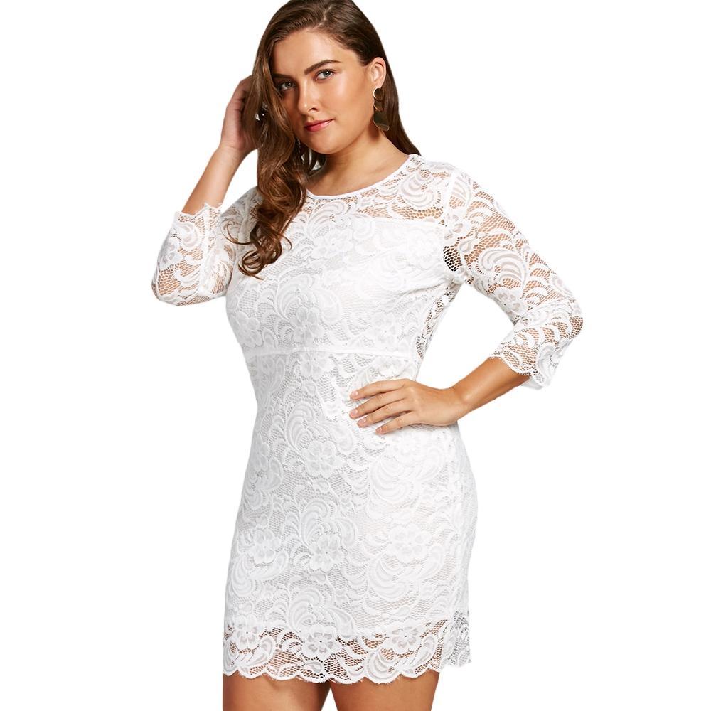 2XL WHITE Plus Size High Waist Lace (end 4/25/2020 7:37 PM)