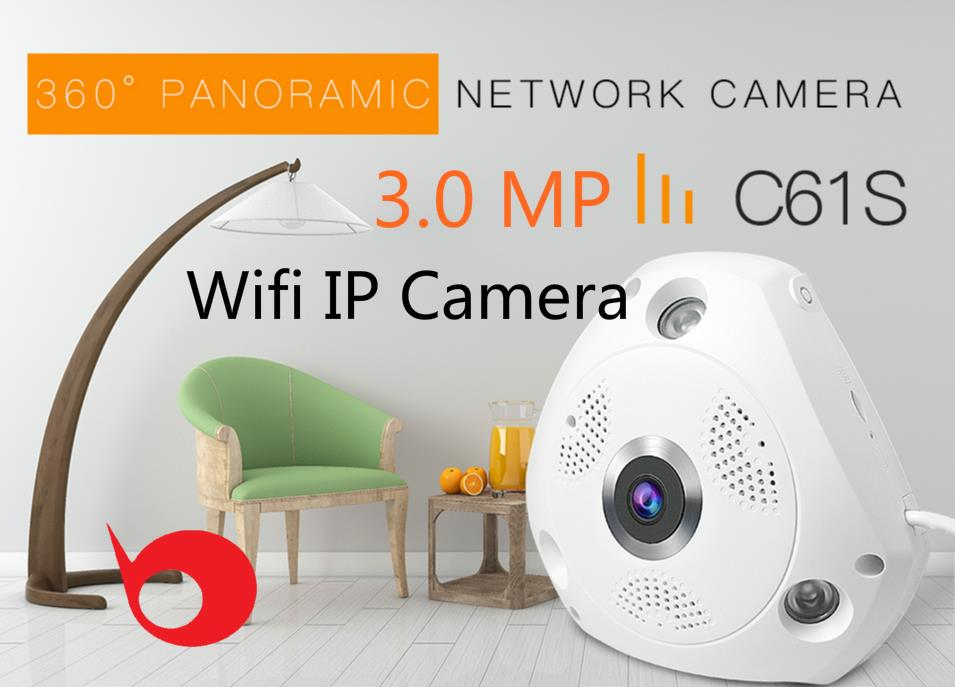3.0MP Starcam C61S Fisheye/Panoramic Wifi IP Camera