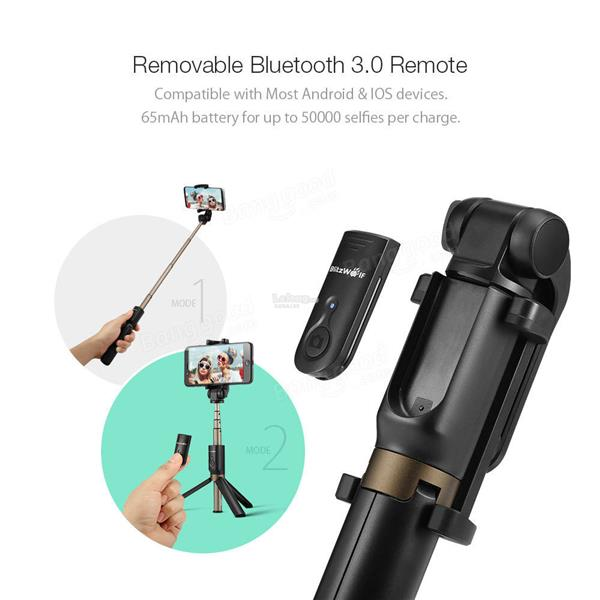 3 in 1 Bluetooth Tripod Selfie Sticks