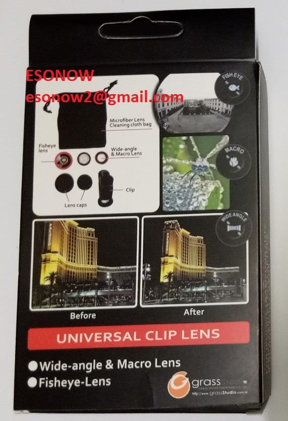 3 in 1 Universal Clip Lens for Mobile with Microfiber Cloth Bag